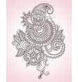 Flower Doodle Design Element vector image vector image