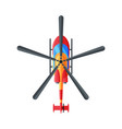 flying civil helicopter top view air transport vector image vector image