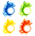 Four seasonal flourish colorful frames isolated vector image vector image