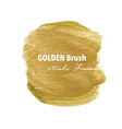 golden brush stroke frame gold texture paint vector image