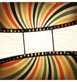 grunge film strip background vector image vector image
