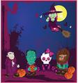 Halloween cartoon characters vector image vector image