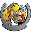 Hand-drawn of an Rider and Horse vector image vector image