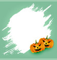 happy halloween scary pumpkin card with text space vector image