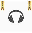 Headphone flat icon vector image vector image