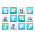 home and house insurance and risk icons vector image vector image
