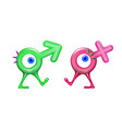 icon realistic plastic male and female cartoon vector image