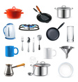 Kitchen utensils set vector image