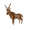kudu standing graphic vector image vector image