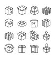 line box icons cardboard boxes package delivery vector image vector image