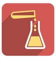 Liquid Transfusion Flat Rounded Square Icon with vector image vector image