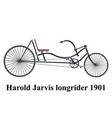 longrider retro bike isolated on white vector image vector image