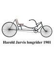 longrider retro bike isolated on white vector image