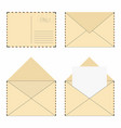 mail envelope set vintage mail envelopes with vector image vector image