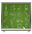 man accessories icons vector image vector image