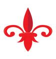 mardi gras symbol fleur de lys vector image vector image
