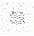 merry christmas calligraphy greeting card vector image vector image
