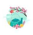 mid autumn festival emblem with event symbolic vector image
