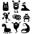 monsters bacteria vector image vector image