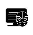 online wrestling games black glyph icon vector image