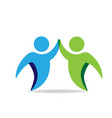 people high five logo icon vector image