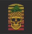pineapple skull vector image vector image