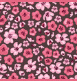pink sakura flowers seamless pattern vector image