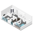 residential apartment with balcony isometric icon vector image