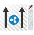 ripple coin send arrows flat icon with bonus vector image