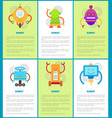 robot machines collection vector image vector image