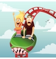 roller-coaster vector image