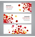Rose Petals wedding love banners vector image vector image