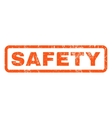 Safety Rubber Stamp vector image vector image