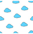 seamless pattern with cute blue clouds vector image