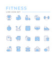 set color line icons fitness vector image vector image