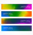set holi festival banners vector image vector image