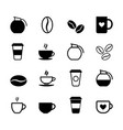 set of simple coffee icons vector image vector image