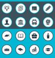 Set of simple school icons