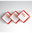 square Abstract background card red vector image vector image