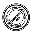 subscribe now stamp on white vector image vector image