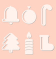 symbols of the new year isolated vector image