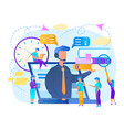 trainer with headset speaking from laptop screen vector image vector image