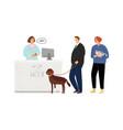 veterinary hospital queue vector image vector image