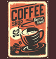 vintage coffee house design vector image vector image