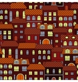 Vintage seamless cityscape background pattern vector image