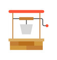 water well gardening and agriculture icon vector image