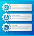 web design banners set vector image vector image
