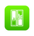 Window cleaning icon digital green