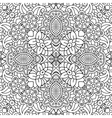 Floral full frame background of geometric designs vector image