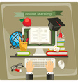 Online learning vector image